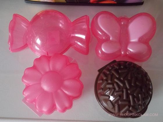 plasútil parceria blog pink glam pote brigadeiro bombom borboleta girassol