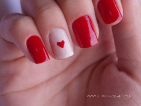 Nail art dia dos namorados 2
