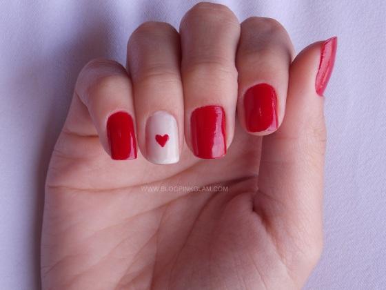 Nail art dia dos namorados